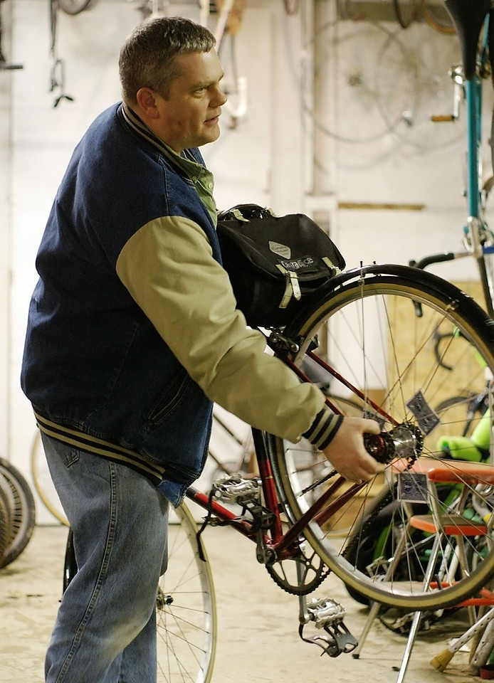 Ralph and his garbage bike