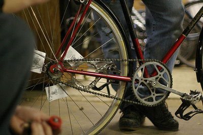 Ralph's bike and the chainring-tensioner