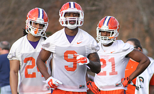 Zac Brooks, Wayne Gallman, C.J. Davidson