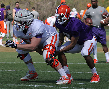 Justin Falcinelli and Kelly Bryant
