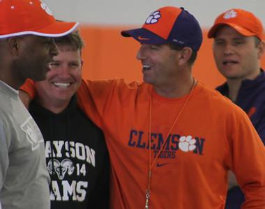 Loganville, Georgia - Grayson head coach Mickey Conn and Dabo Swinney