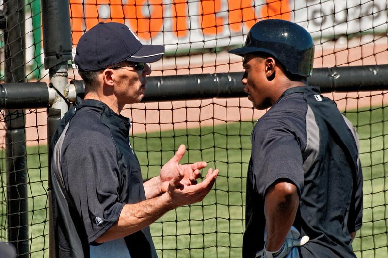 Joe Girardi Coaching Curtis Granderson