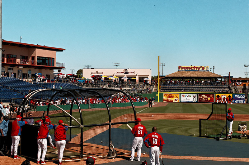 Phillies Taking Batting Practice