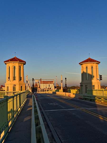 Downtown St. Augustine, from the Bridge of Lions