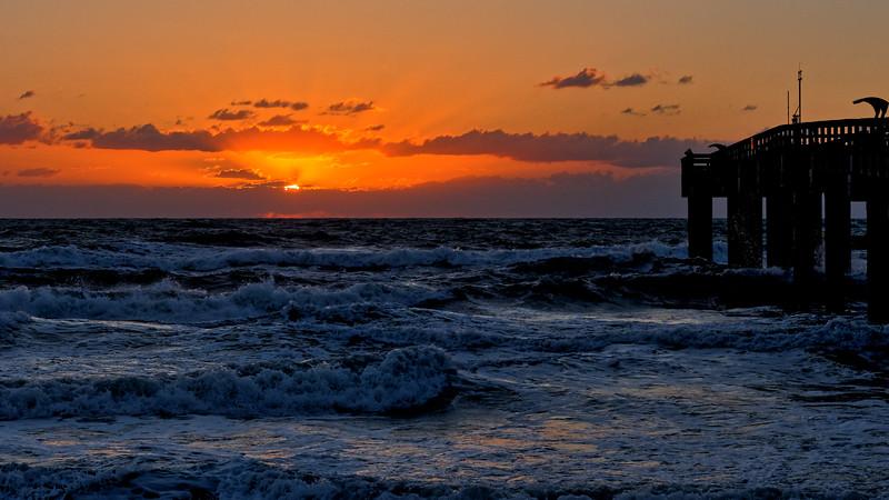 Choppy Surf at Sunrise on St. Augustine Beach