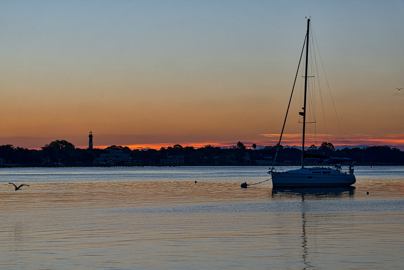 St. Augustine Harbor and Light