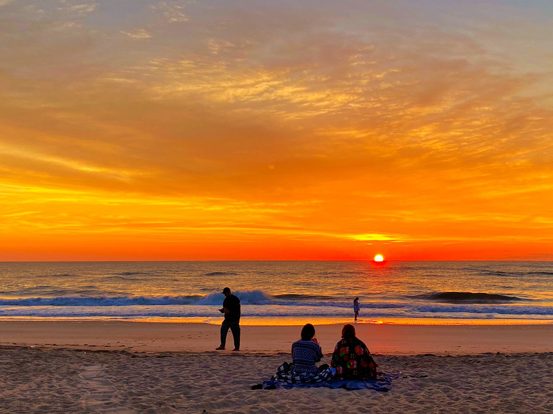 Watching The Sun Rise on Vilano Beach