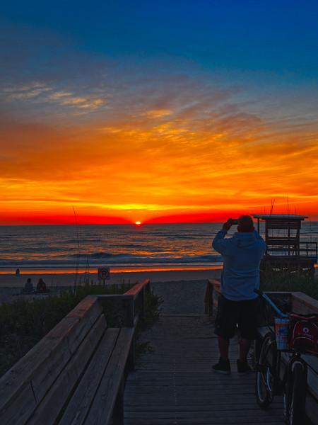 Photographing The Sunrise on Vilano Beach