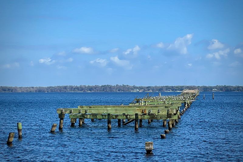 Remains of Old Sands Bridge in Green Cove Springs