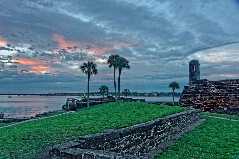 Sunrise at Castillo de San Marcos
