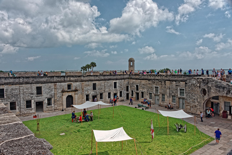 Interior view of the fort.
