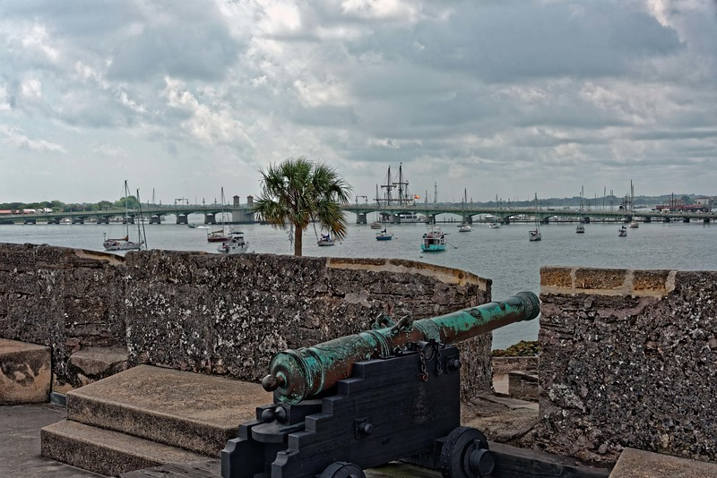 Original Spanish cannon overlooking the harbor