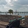 Original Spanish cannon overlooking the harbor