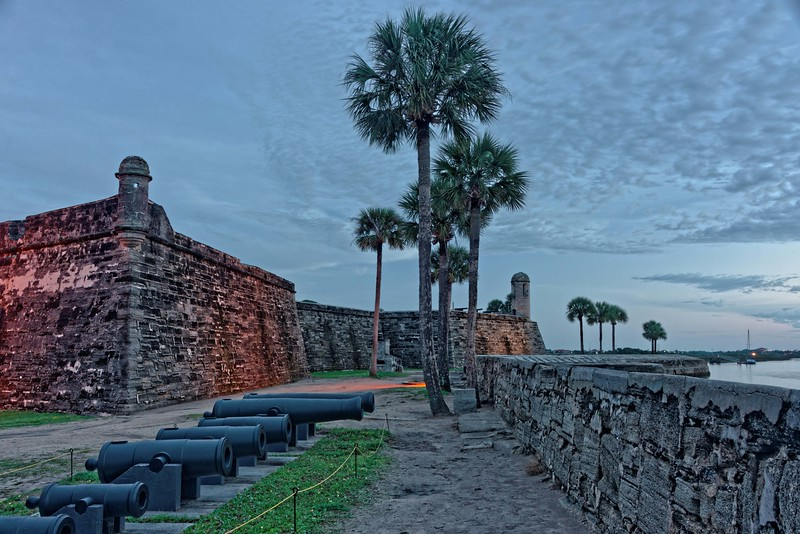 Another view of the fort with cannon display.
