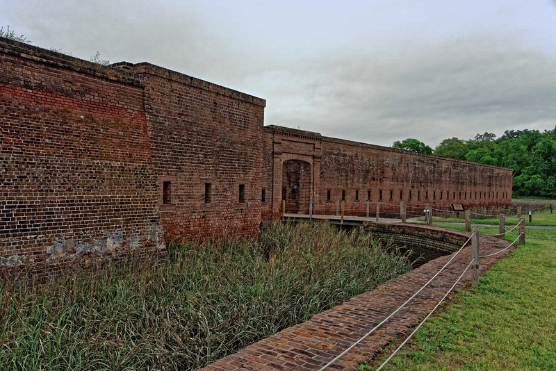Entrance to Fort Jackson on the Savannah River near downtown - 1808