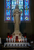 St. Bridget's church, Christmas window, Sacred Heart statue<br /> <br /> STATUE -- SACRED HEART OF JESUS