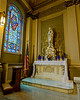 St. Bridget's church, Altar of Mary<br /> <br /> ALTAR OF MARY This altar is the counterpart of the Altar of St. Joseph and thus similarly decorated.