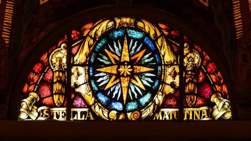 """MORNING STAR -- As the morning star precedes the sun, Mary precedes her Son and makes way for His coming. Likewise, in the Exsultet, the Easter Proclamation, the Morning Star refers to Jesus: """"May the Morning Star which never sets find this flame still burning. Christ, that Morning Star, who came back from the dead..."""""""