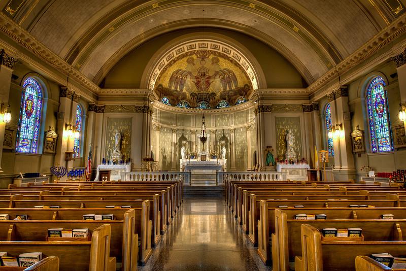 St. Bridget's church, altars.