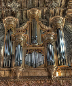 Organ close-up, St David's cathedral