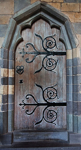 Door at St David's cathedral