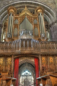 The choir and organ
