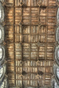 Nave ceiling at St David's cathedral