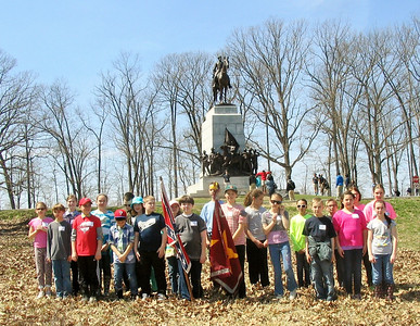 Students from St. Francis Academy in Bally recently visited Gettysburg battlefield and retraced the steps of the 28th Virginia Regiment during Pickett's charge.