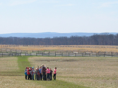 Students from St. Francis Academy in Bally recently visited Gettysburg battlefield and retraced the steps of the 28th Virginia Regiment during Pickett's charge. The students from SFA marched across the battlefield with Ranger Rosiecki explaining what was happening.