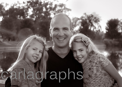 Dad and the Girls BW-1