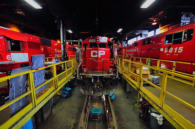 Canadian Pacific, St Luc Diesel Shop Maintenance Bay, Montreal, Quebec