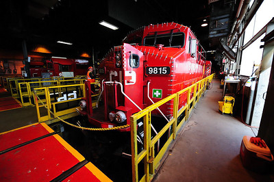 ``Holiday Train`` locomotive, CP St Luc Shop, Montreal, Qc