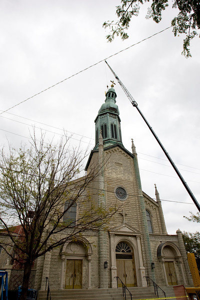St. Mary's New Albany Steeple Damage