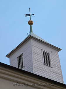 Weather vane (view from the north side) - St. Paul's Lutheran-Serbin, Texas