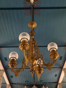 Ornate chandelier - St. Paul's Lutheran-Serbin, Texas