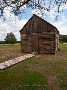 Pastoral cabin, prior to the building of the church - St. Paul's Lutheran-Serbin, Texas