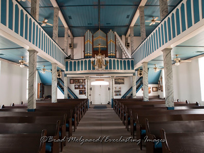 Sanctuary center aisle - St. Paul's Lutheran-Serbin, Texas