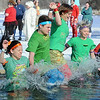 Pat Christman<br /> Jumpers hit the icy waters of Hallett's Pond during the Polar Plunge Saturday in St. Peter.