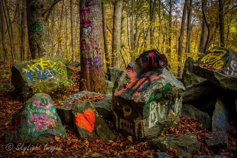 Graffiti Boulders at St. Peters Village 2014