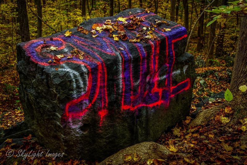 Graffiti Boulders at St. Peters Village 2014