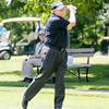 PGA pro John Mahaffey tees off on the 10th hole during the St. Vincent Anderson Regional Hospital Foundation Children's Clinic Golf Classic at the Anderson Country Club on Tuesday. Each team had a PGA pro play with them for one hole plus a tee shot during the tournament.