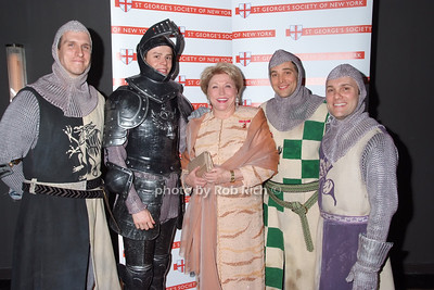 Barbara Taylor Bradford, Broadway Knights of Monty Python's Spamalot photo by Rob Rich © 2008 robwayne1@aol.com 516-676-3939