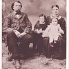 "(ad)   Comment written by Paul Stack::  """"Print #207623 - JOHN and AUGUSTA (VON GRITZNER) STACK and children believed to be FRANK and CHARLES.  -  -  The 1900 census shows: John lived with his son Fred in Glenwood City, Wis.. Also shows John immigrated from Germany in 1855 and Augusta immigrated from Germany with her parents (the Von Gritzners) in 1855. Augusta's birth January 1840 and John's birth February 1827. In 1900 Augusta had 7 children (6 living): Frank, Charles, Ben, Fred, Henry (deceased), Ida and Annie.  -  -  John's death record is filed in Hudson, Wisconsin, signed by Fred Stack. It gives John's birth date as November 8, 1825 and date of death April 20, 1908. John was buried in Glenwood City, Wisconsin. Records in Glenwood City show an unmarked grave next to Fred Stack's grave.""""<br /> ------------------------------------<br /> ------------------------------------<br /> <br /> Following is a typed copy of a written narrative I received from Bill Brengman in April 2015.     :::::::::::::::::::::<br />      <br /> THE JOHN STACK FAMILY   -----   In a visit with Ida Stack Palmer, Charles and Ernestine's oldest daughter, in her home in Visalia, California in 1980 Paul and Charlotte recorded what his aunt had to tell about her life in Glenwood City. She said everyone was happy and helped everyone else. When the log house needed enlarging, there were plenty of hands to help with the work. Her mother was a good cook, baked twelve loaves of bread at a time and she talked to her chickens.<br />      <br /> WHEN THE BEAR CAME TO THE PARTY   -----   One time they were having a party in the big log house. There was one man playing an accordian, another playing a violin. All the guests were dancing when all of the sudden the door went down and ther stood a big bear. Ernestine reached for a slab of bacon and threw it to him and the bear marched off.<br />      <br /> *  *  *      The following is an account of the John Stack family's journey from New York to Glenwood City, over many years. John Stack had lived in the United States 53 years when he died. His name was spelled in various ways including Stacker, Stecker and Stecher.<br />      <br /> John Stacker and Ludvig and Augusta Von Gritzner with their 15-year-old daughter Augusta emigrated from Germany to New York in 1855. John and the Von Gritzner's daughter were married in New York and their first child, Herman (Frank) was born there in 1860 and their second, Charles in 1862.<br />      <br /> In 1864 They all journeyed to Wisconsin, where five more children were born, Fred in 1865, Henry 1867, Ben 1870, Anna 1873 and Ida 1875. Tradition indicates they first lived in Horicon.<br />      <br /> The 1880 census shows John, Augusta and their children living in Neenah. Augusta's parents, John's parents August and Augustina Stacker, and one grandchild Henry were living in Belle Plaine. the 1880 census also shows Charles in Ixonia Township in Jefferson County, where he was working on the farm of William Melcher. During this time he changed his name to Stack, and the remainder of the family also later adopted the shorter version of the name.<br /> <br /> Charles married Ernestine Kohn whose home was in the Beaver Dam area. While living in Belle Plaine four children were born to them, William, Ida, Ernest and Lillian. In 1891 they moved to beautiful Glenwood City. Charles and Ernestine chose 40 acres on the brow a hill where they reared their family of twelve children. Born in Glenwood were Frank, Oscar, Ella , Elizabeth, Emma, Henry, Gertrude and George.<br /> <br /> John and his wife Augusta with their youngest daughter Ida, and the Ludvig von Gritzners with son Fred, lived in houses in the valley close below.<br /> <br /> Charles and Fred are the only two of John Stack's children who lived in Glenwood City for the rest of their Lives.<br /> <br /> Fred Married Mary DeSmith in Glenwood City in 1894. Their children were Catherine, Edward, Howard, Clarence, Anthony, and twins Harris and Harriet. Daughter Harriet Yelle lives in Glenwood City today, as do two of Edward's sons, Morris and Harold.<br /> <br /> *  *  *     The above information was taken from censuses, obituaries and hearsay of Stack descendants.<br /> <br /> By Mrs. Paul W. (Charlotte) Stack<br /> -----------------------------------------------<br /> -----------------------------------------------<br /> - John Stack and Augusta Von Gritzner Stack are parents of Fred Stack.<br /> - - Fred Stack is father of Edward Stack.<br /> - - - Edward Stack is father of Morris, Lawrence, Harold, Edward and Phyllis.<br /> <br /> Note: Comments welcomed on any of these photos. Please feel free to leave a comment in lower left of this webpage, or email me at ds329ds@hotmail.com ."