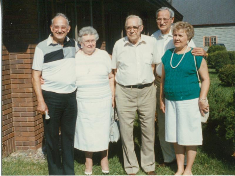 (ao)   Harris Brengman, Tina Brengman, Tony Stack, Jack Brengman, Eleanor Brengman.