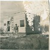 Lawrence Stack in Alaska.<br /> <br /> In 1947 Larry planned to move his family to Fairbanks, Alaska. He went ahead of Jeanne to set things up, and build a house. At a later date, his wife Jeanne and daughter Laurie flew to Fairbanks to join Larry. The story I heard was that Jeanne did not like it up in Alaska. So, after a short period of time, they moved back to Wisconsin.<br /> <br /> This is the only photo I have seen that was taken in Alaska during this time.