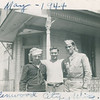 "Morris Stack and Pete Holldorf.   Who is the guy in the middle?<br /> Stamped on the back is, ""Brown Photo Service, Minneapolis, Minn., May 24 1944""."