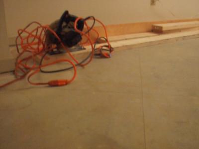 circular saw and guiding board