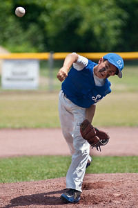 Saratoga American LL All Star Christian Kondo hurls a pitch towards home plate at the East Side Rec in Saratoga during their game against Scotia Sunday afternoon. Photo Eric Jenks 7/8/12