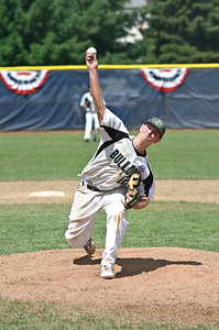 Relief Pitcher Matt Alverson throws one of the final pitches of the 2011 Babe Ruth World Series Game against Guilderland Friday morning. Photo By Eric Jenks 8/27/11