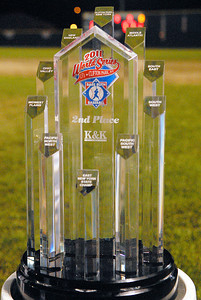 Clifton Park's second place trophy after a fall to Tri Valley after they won the Babe Ruth League 13-year-old Championship on Friday evening. Photo Erica Miller 8/27/11 spt_BabeRuth2_Sat